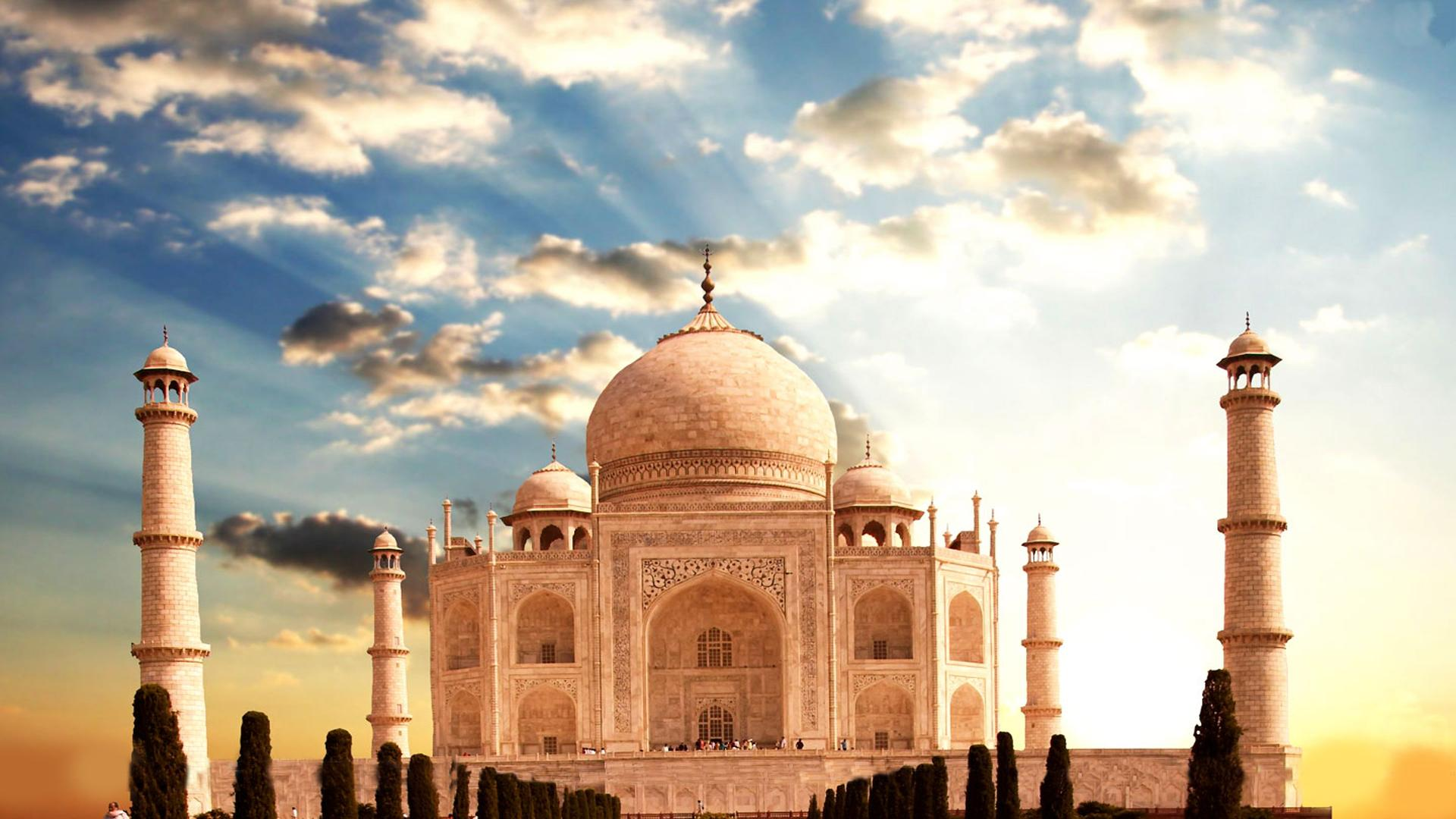 taj mahal wonder of the world in india photo