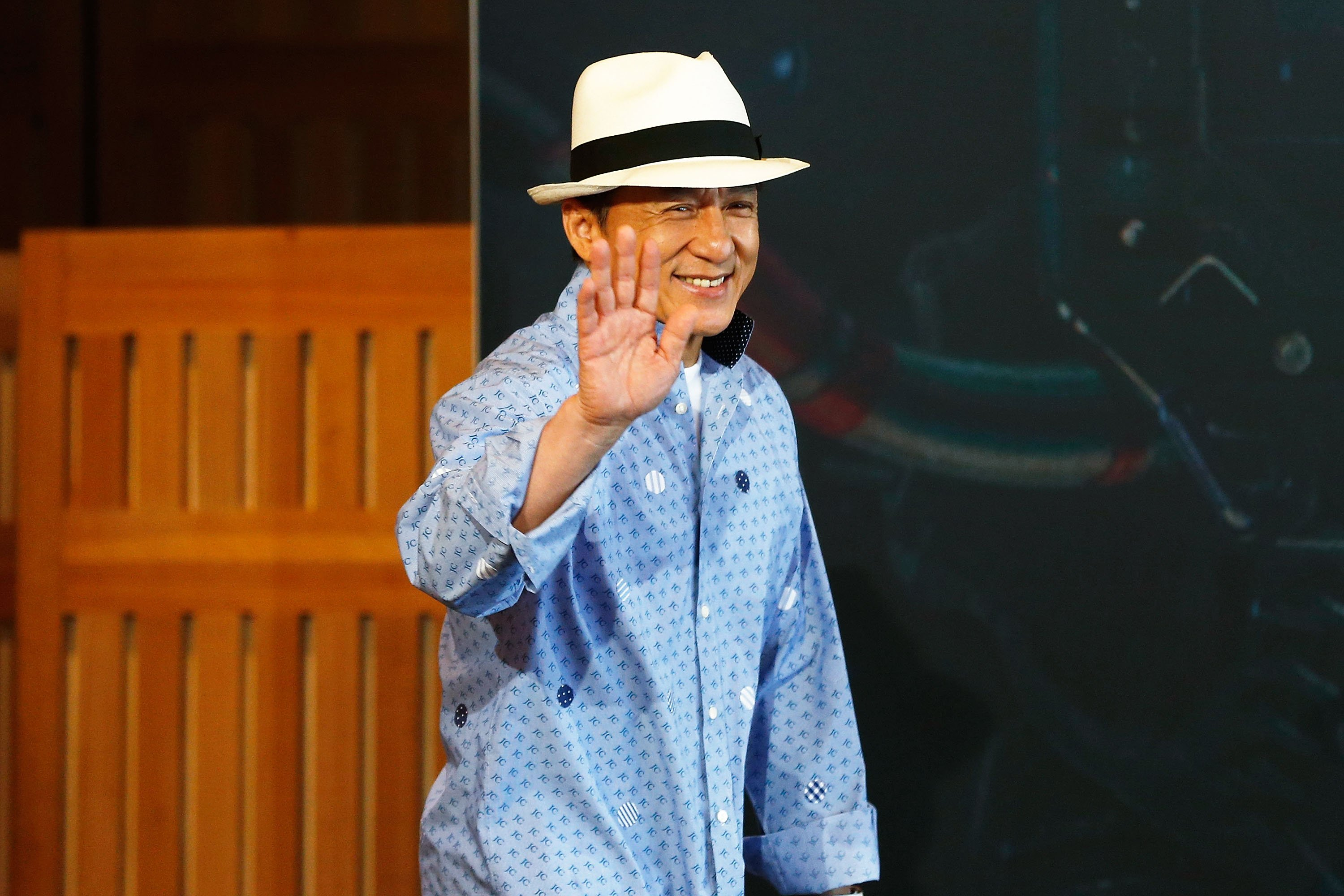 Jackie Chan Arrives At A Press Conference Free Mobile Dowload Hd Images