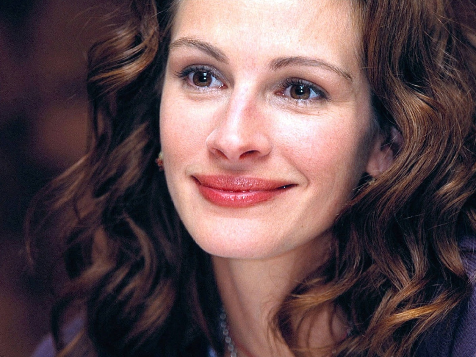 stunning beauty julia roberts face desktop wide wallpaper