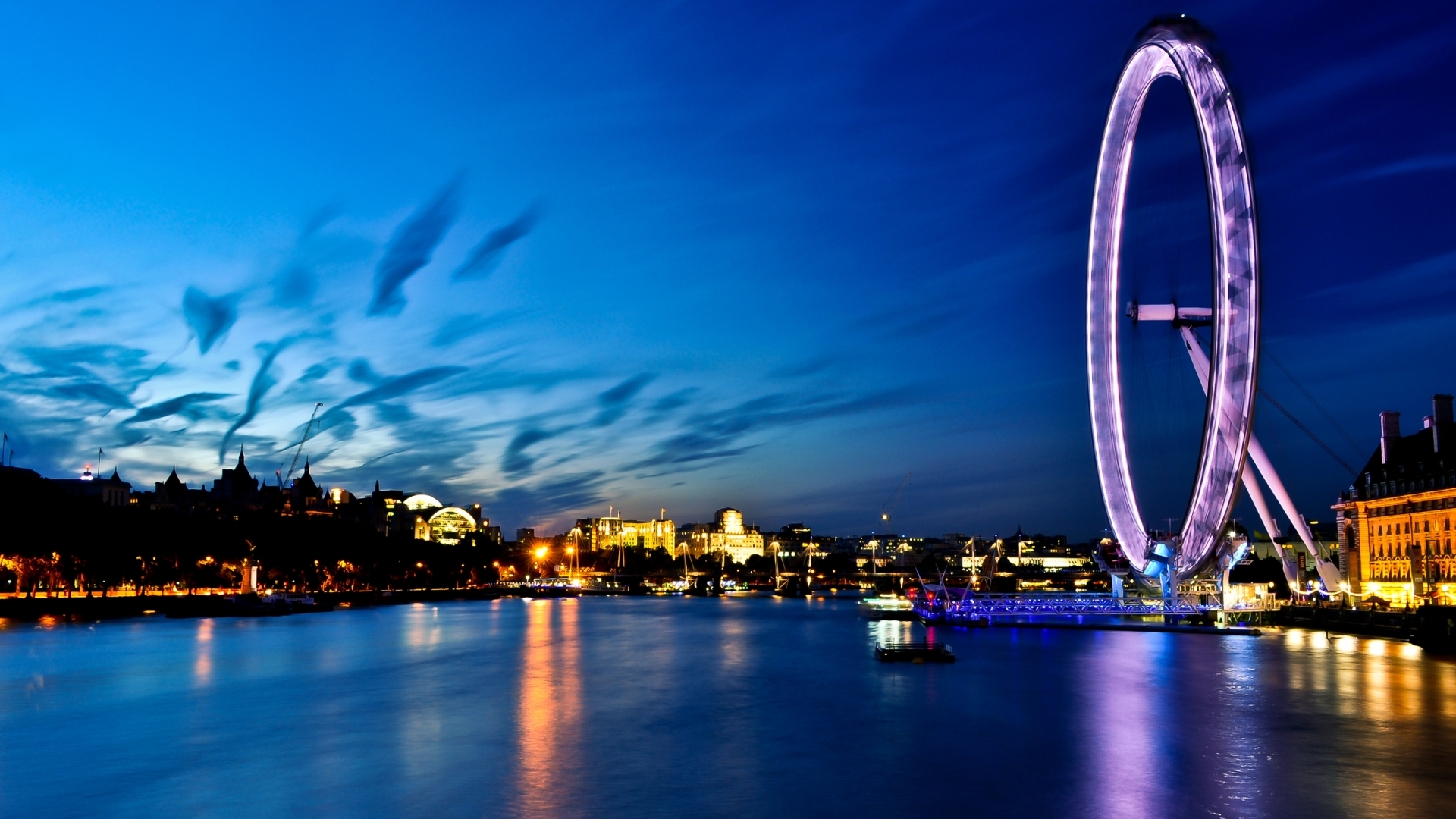 download night light london city uk hd wallpapers