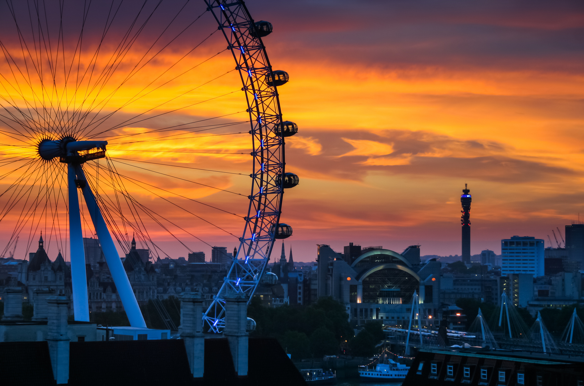 evening sunset on london city mind blowing wallpaper