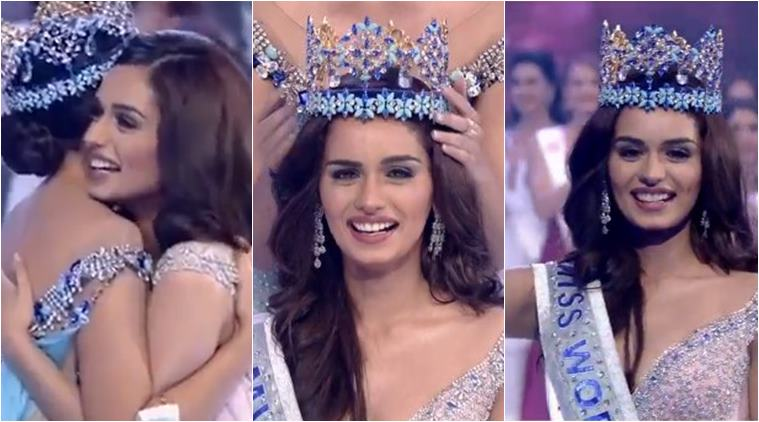 Manushi Chhillar Winning Happy Moment Pictures