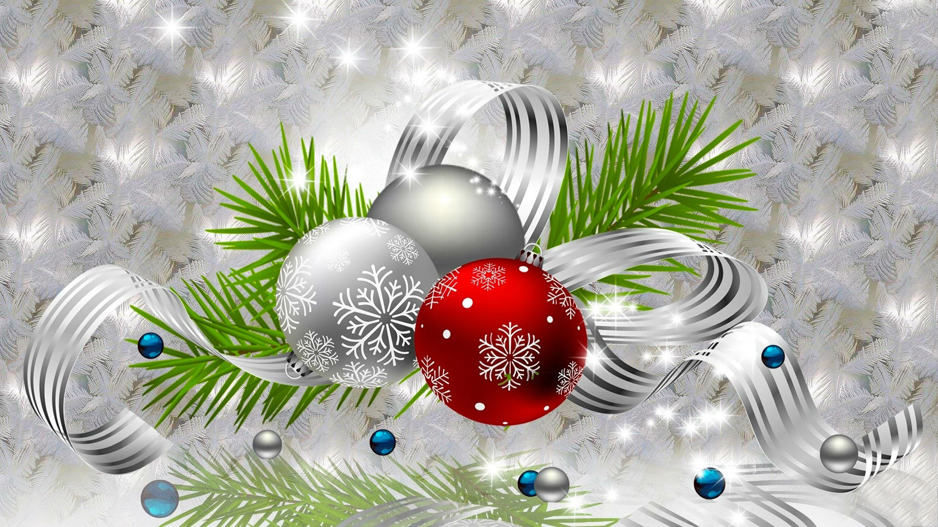christmas balls 3d abstract wallpapers