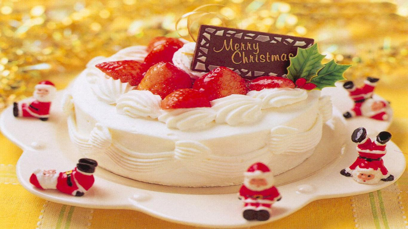 Christmas Cake Free Wallpaper Download