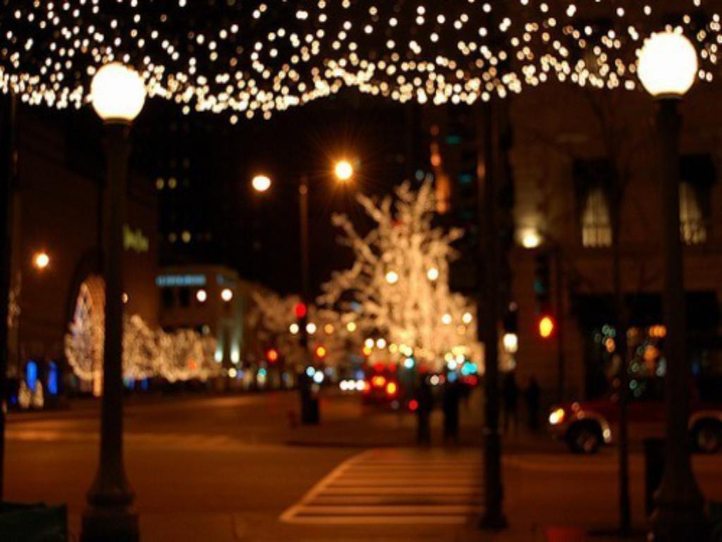 christmas fantastic city lights wallpapers