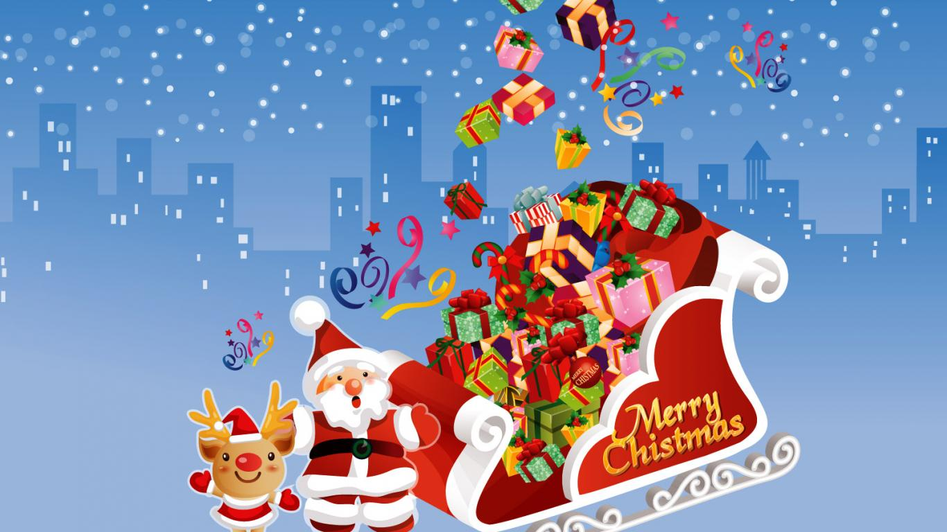 happy christmas newyear hd santa claus wallpaper