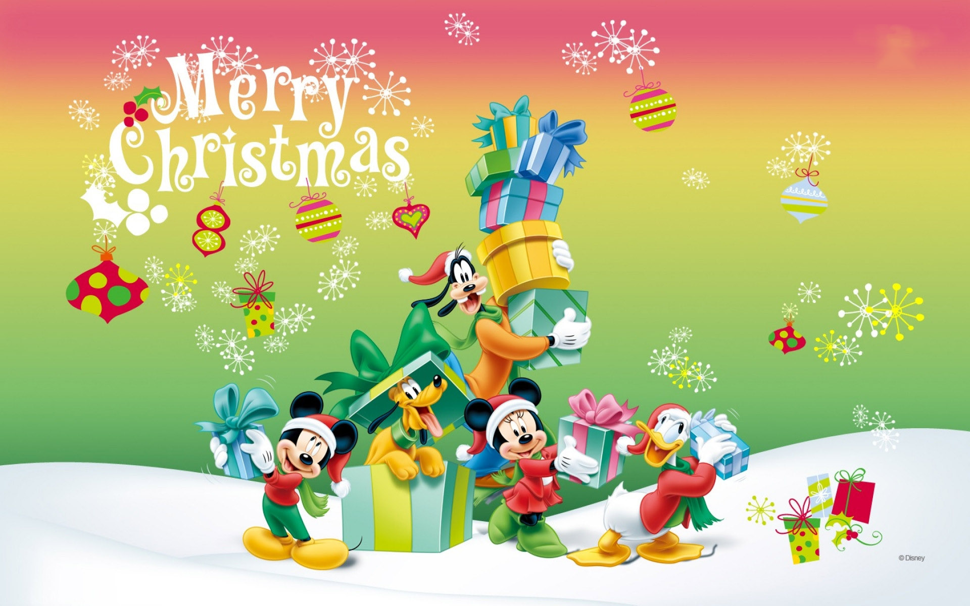 Mickey Mouse Cute Christmas Images
