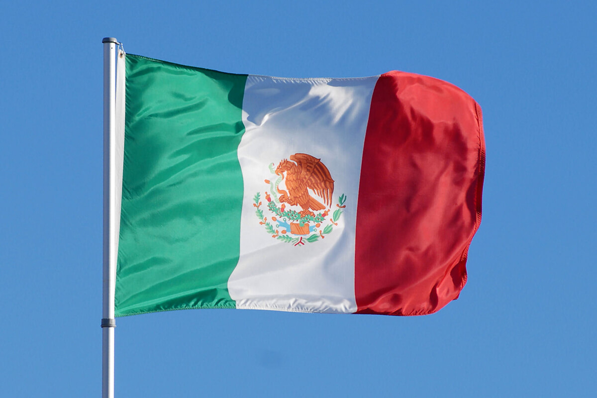 mexico national flag waving on wind photos download