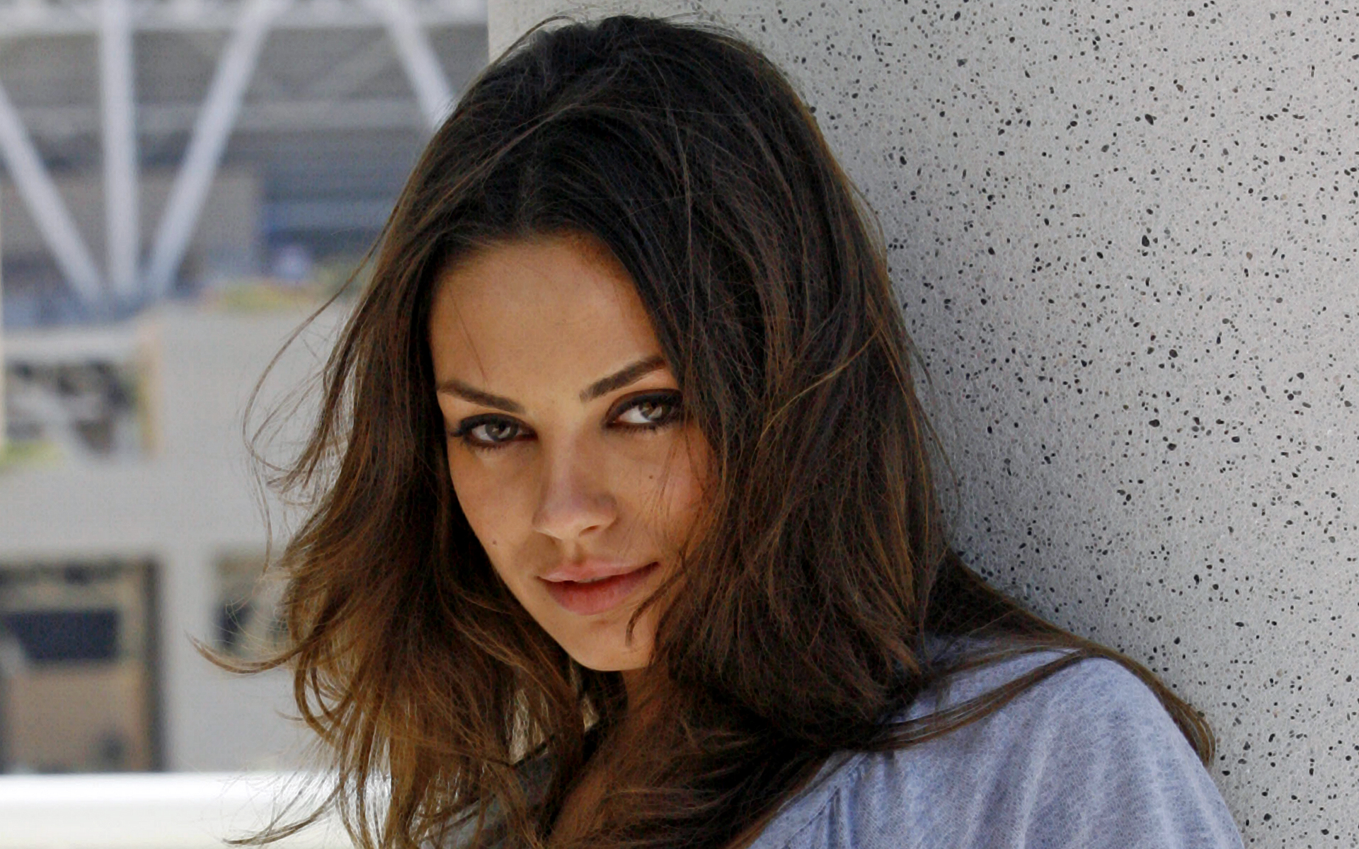 stunning look mila kunis free desktop wallpaper