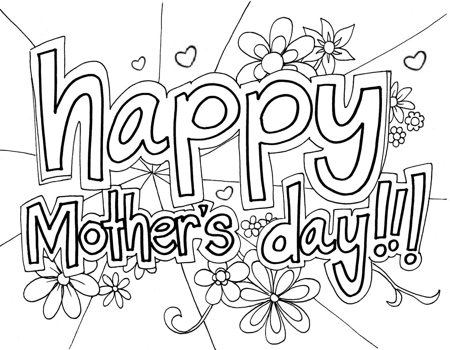 happy mothers day black and white desktop wallpaper download