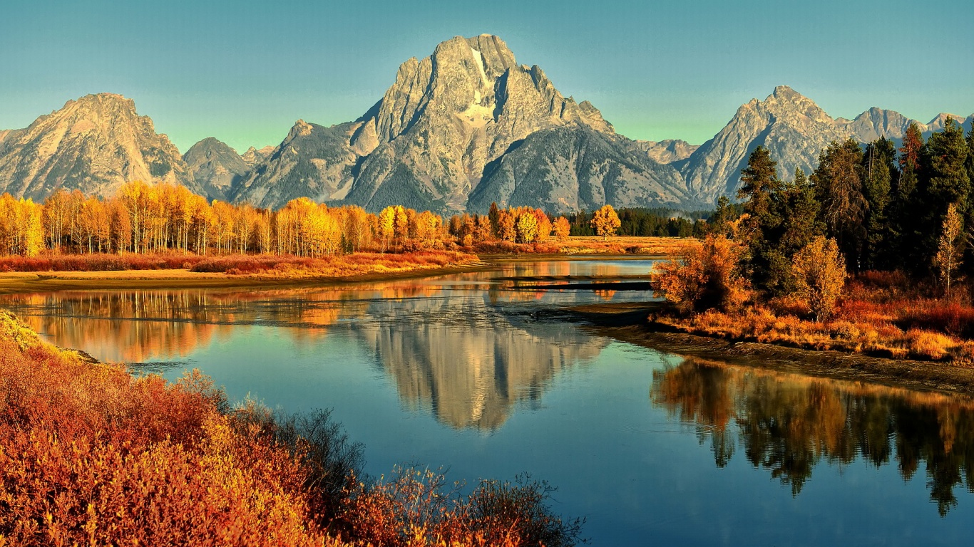autumn mountain river hd images
