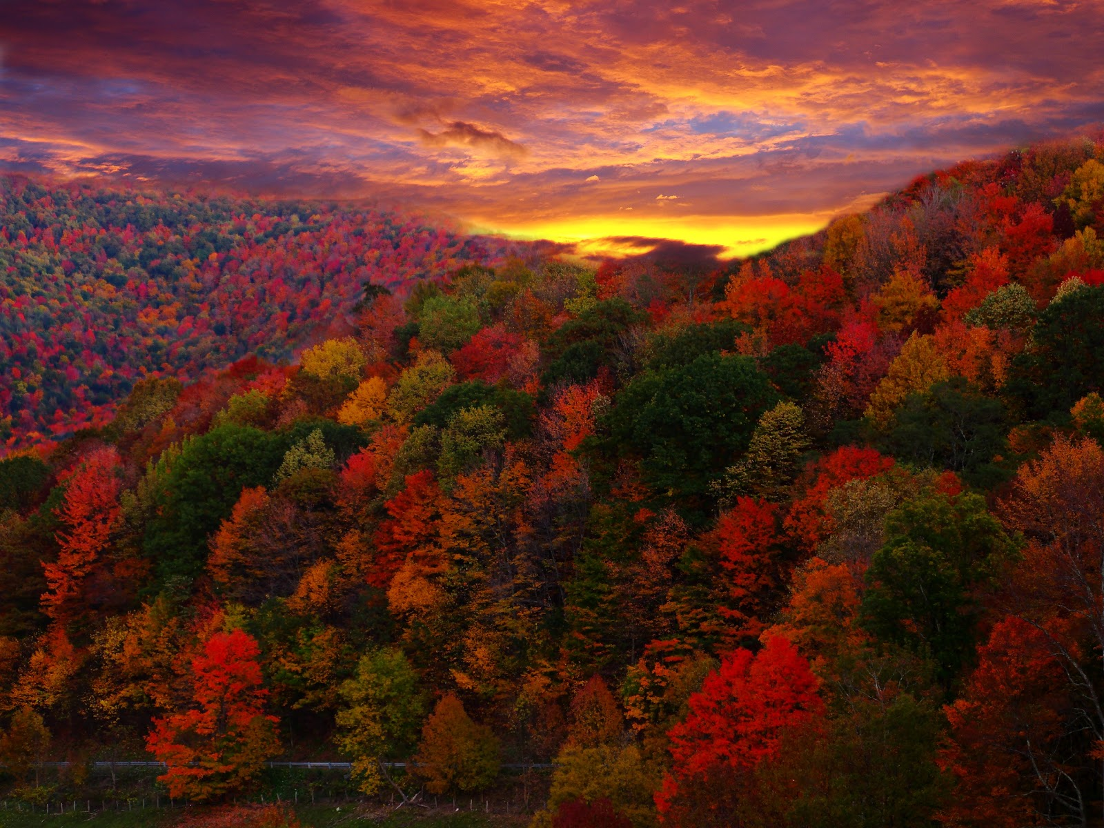 autumn mountain scenes image wallpaper free download