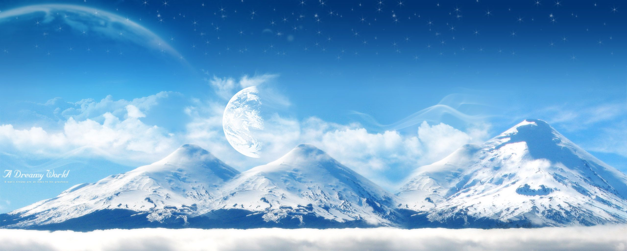 dreamy world snowy mountain wallpaper images photos
