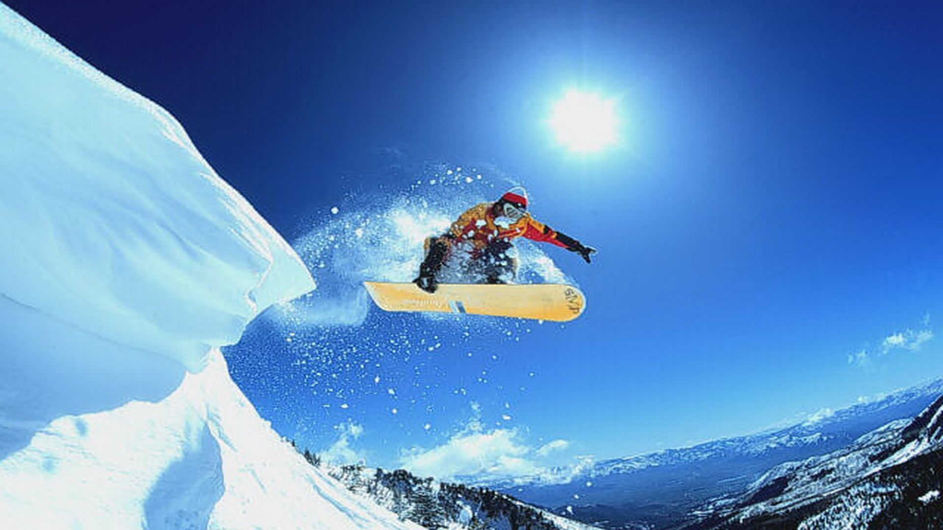 Hd Snowboarding Mountain Wallpaper High Resolution Free Download Images