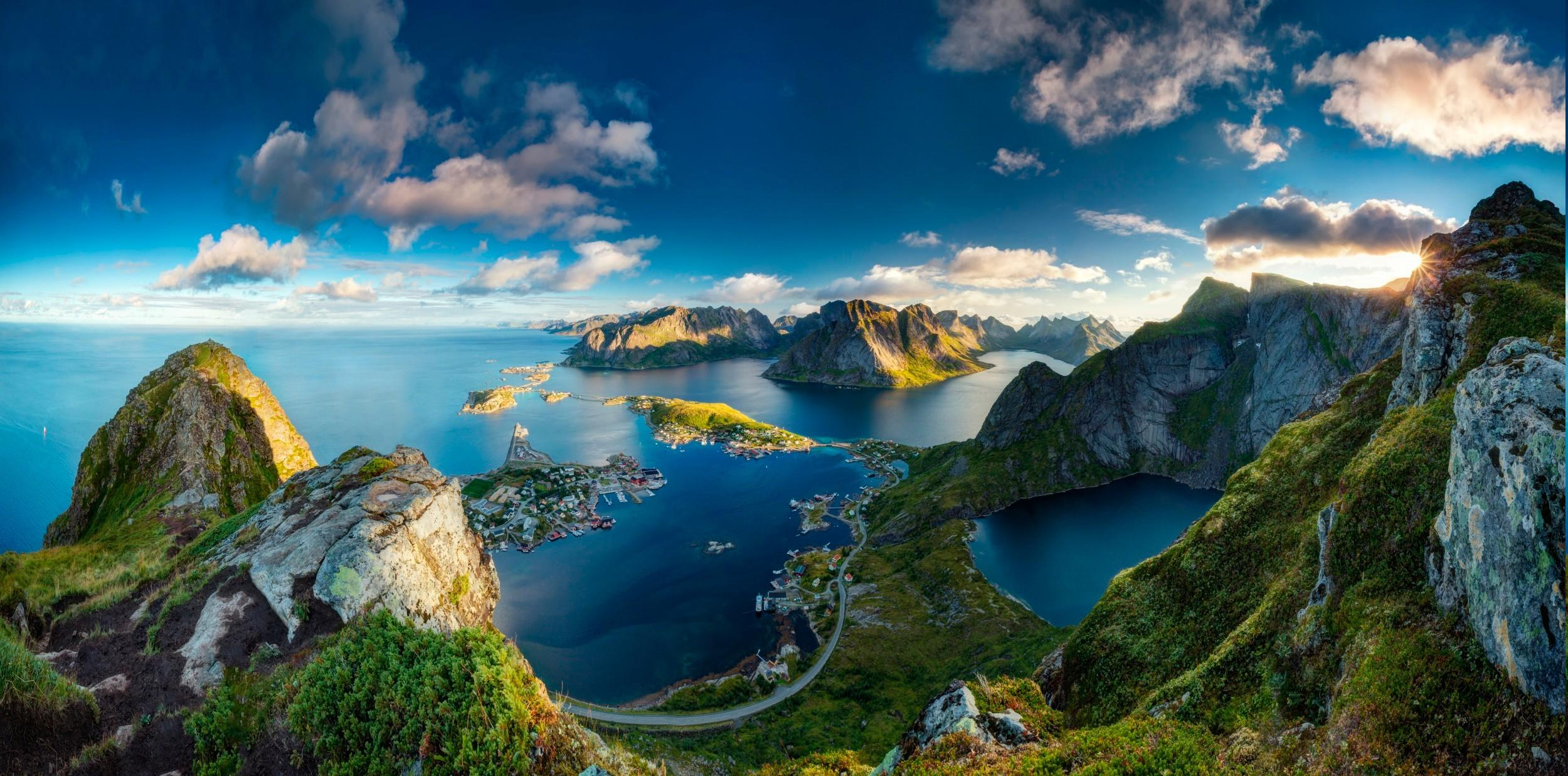 Most Inspiring Wallpaper Mountain Cloud - sun-mountain-landscape-sea-nature-norway-wallpaper  Pic_797974.jpg