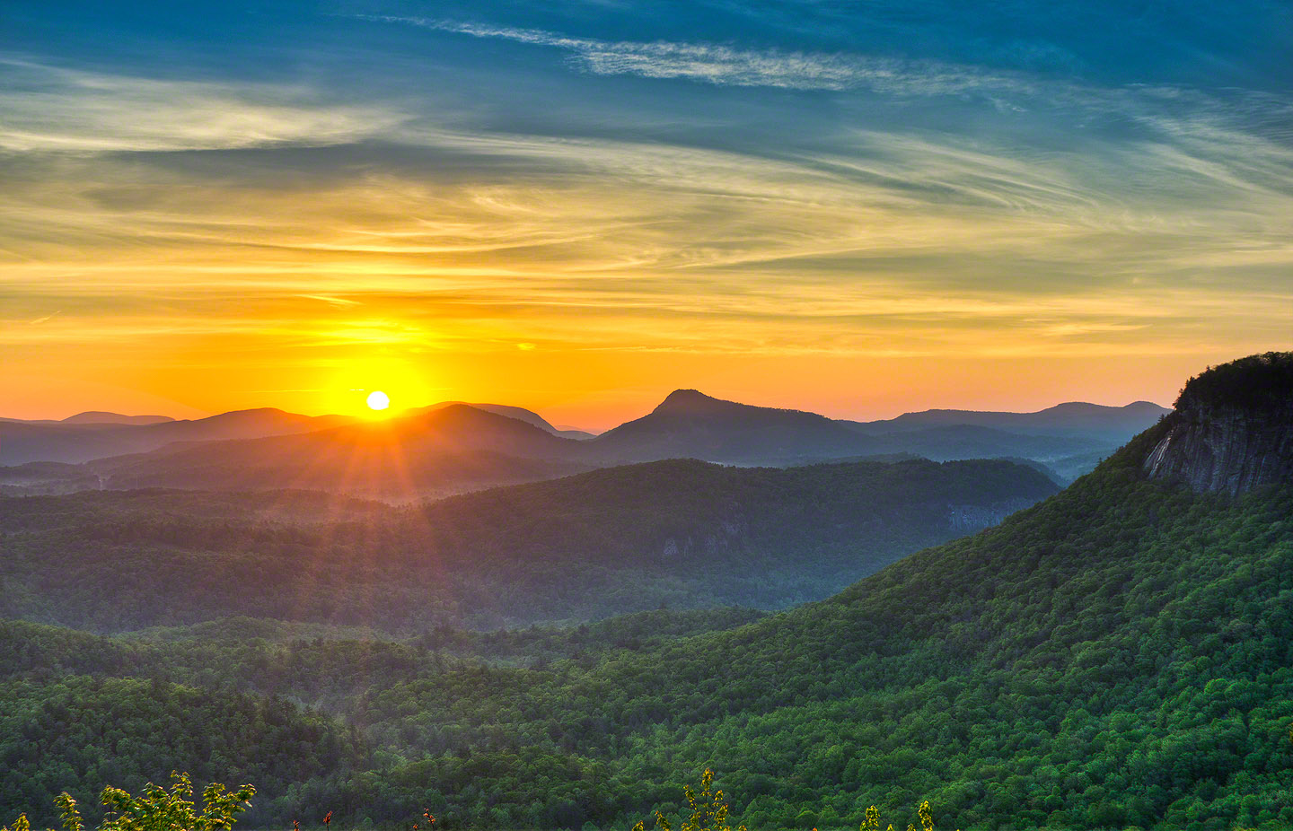 Whiteside Mountain Sunrise Desktop Wallpapers images download