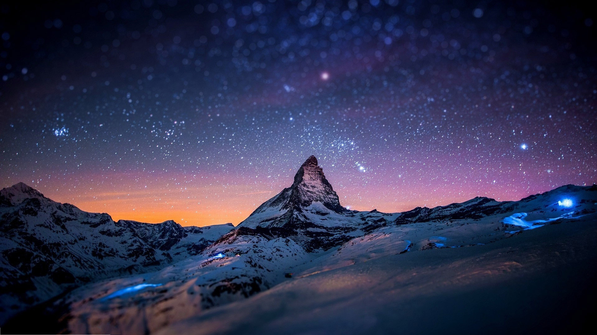Beautiful Mountain In Night Wallpapers Hd Pictures