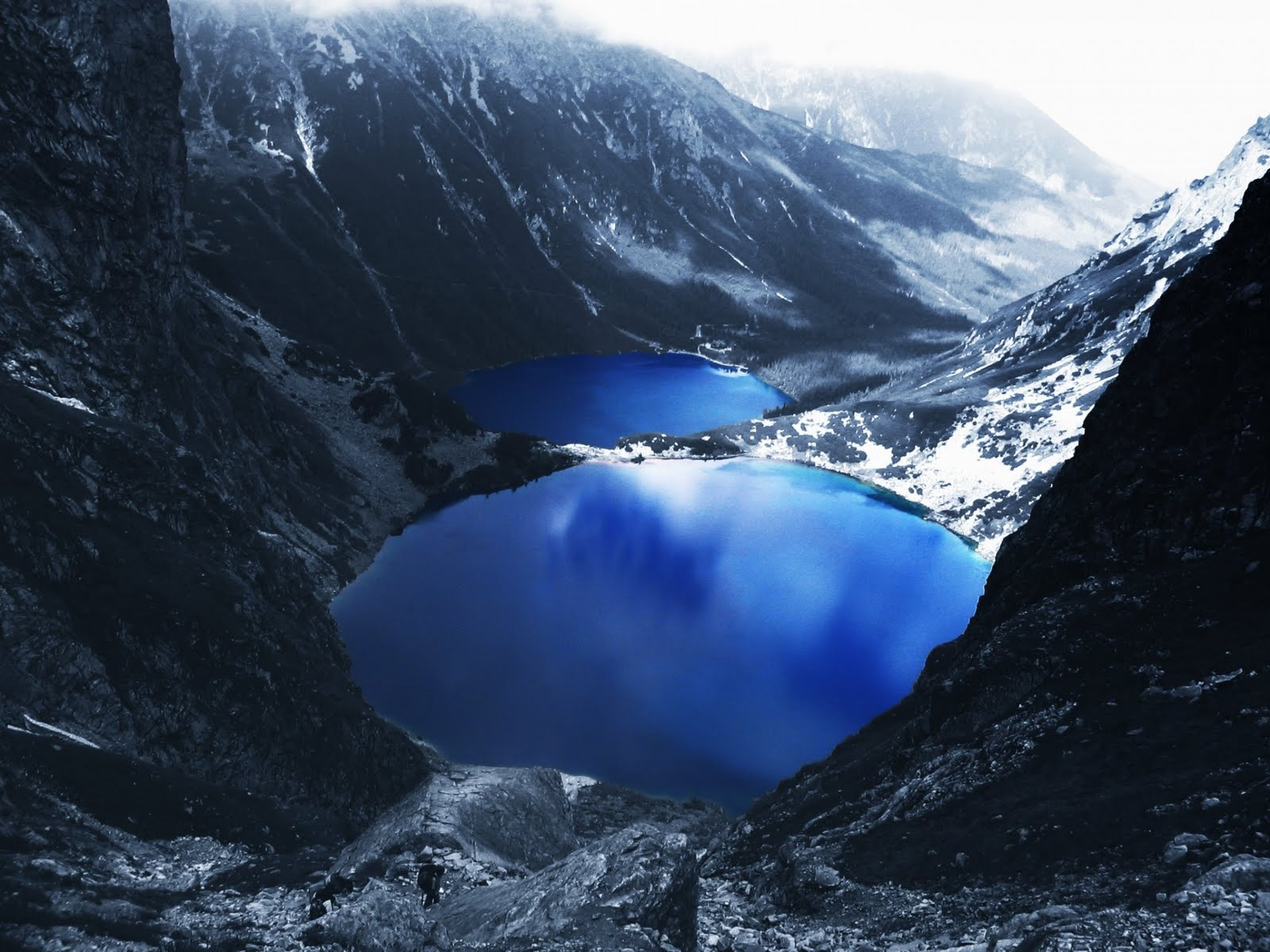 blue lake snow mountains wallpaper images picture hd views