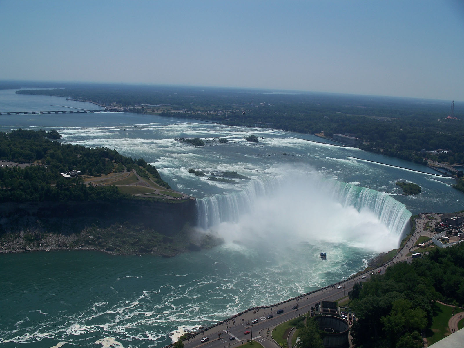 aerial view of niagara falls desktop pictures free