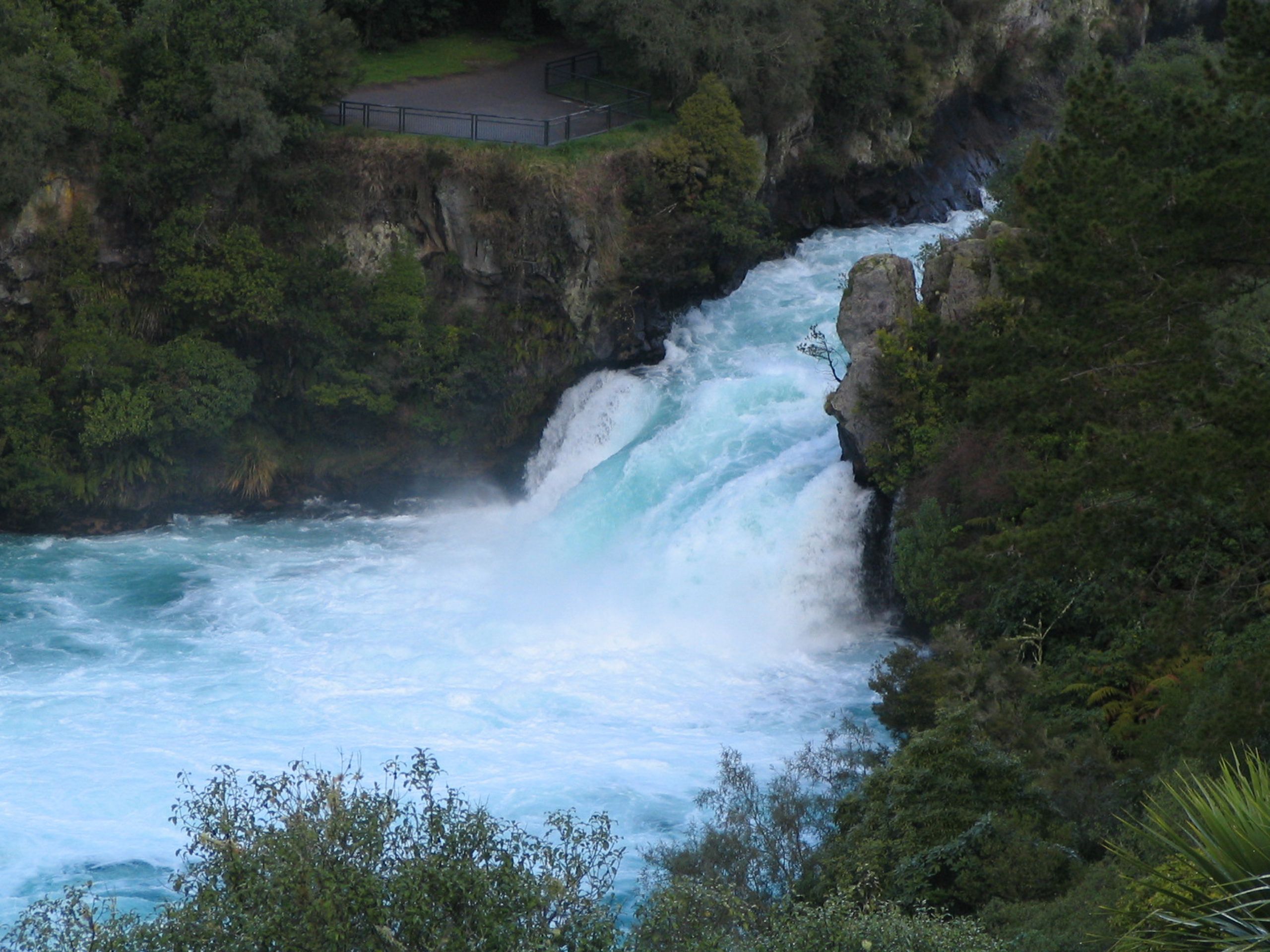 free huka falls waikato river north island new zealand wallpaper