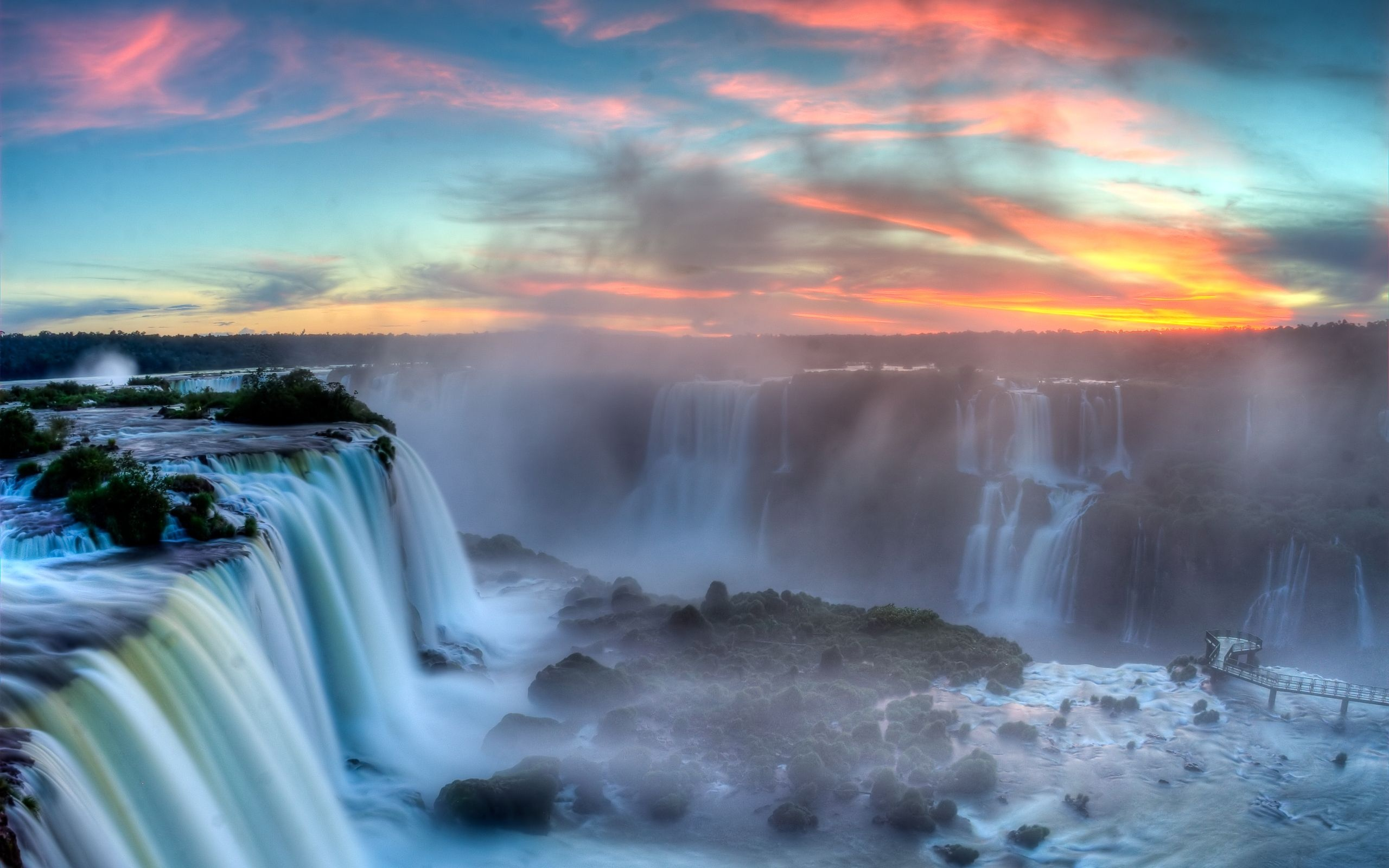 iguazu falls in argentina wallpapers hd pic download