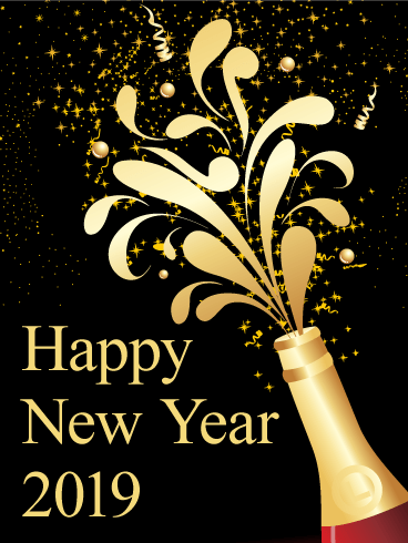 happy new year 2019 greeting cards download