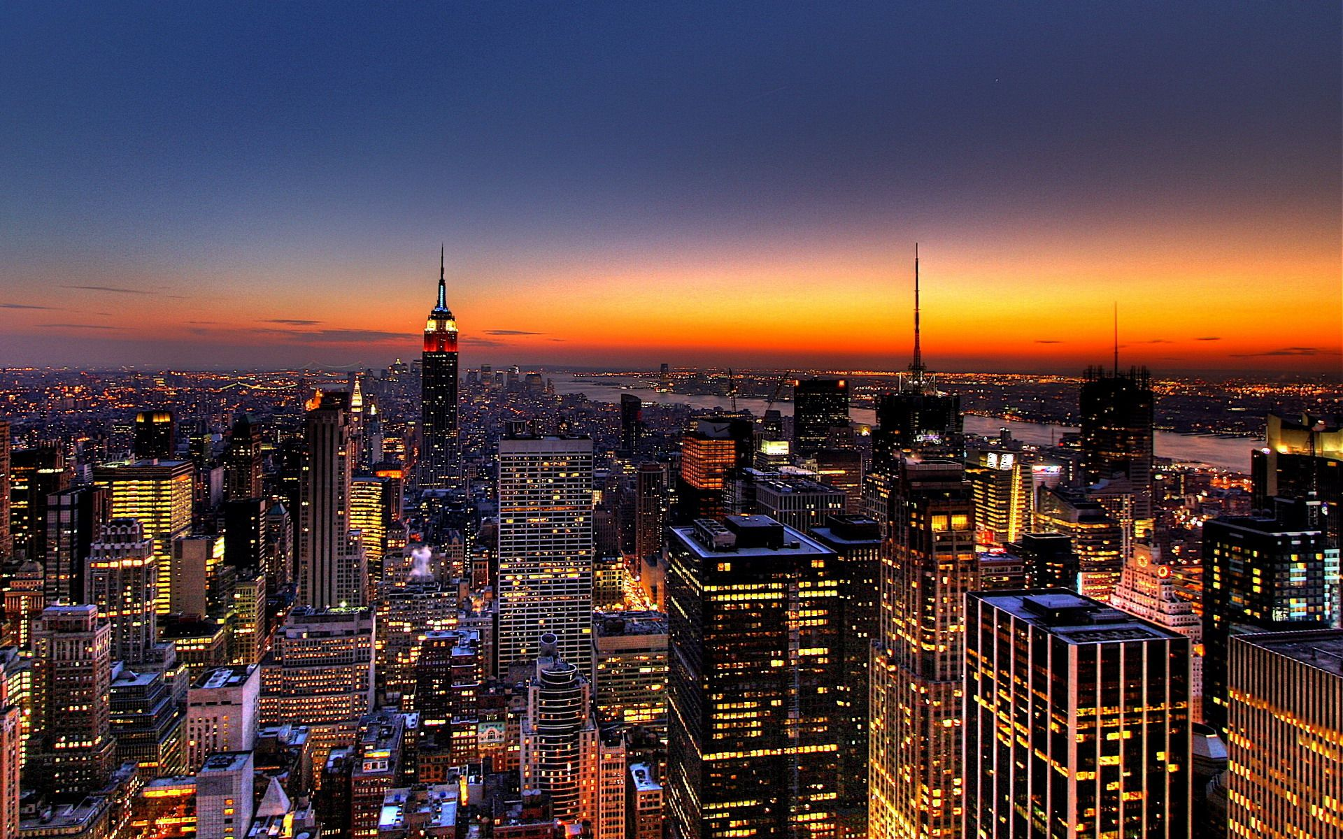 aerial view freedom tower new york city night hd images