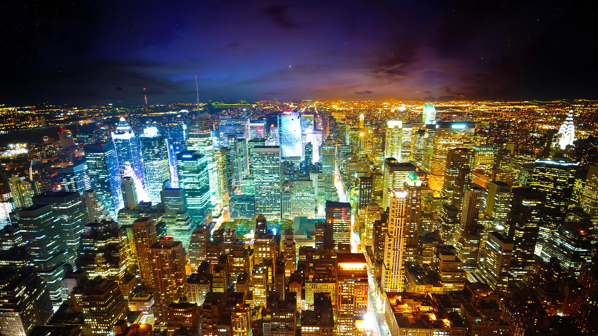night light wallpapers of new york city pics