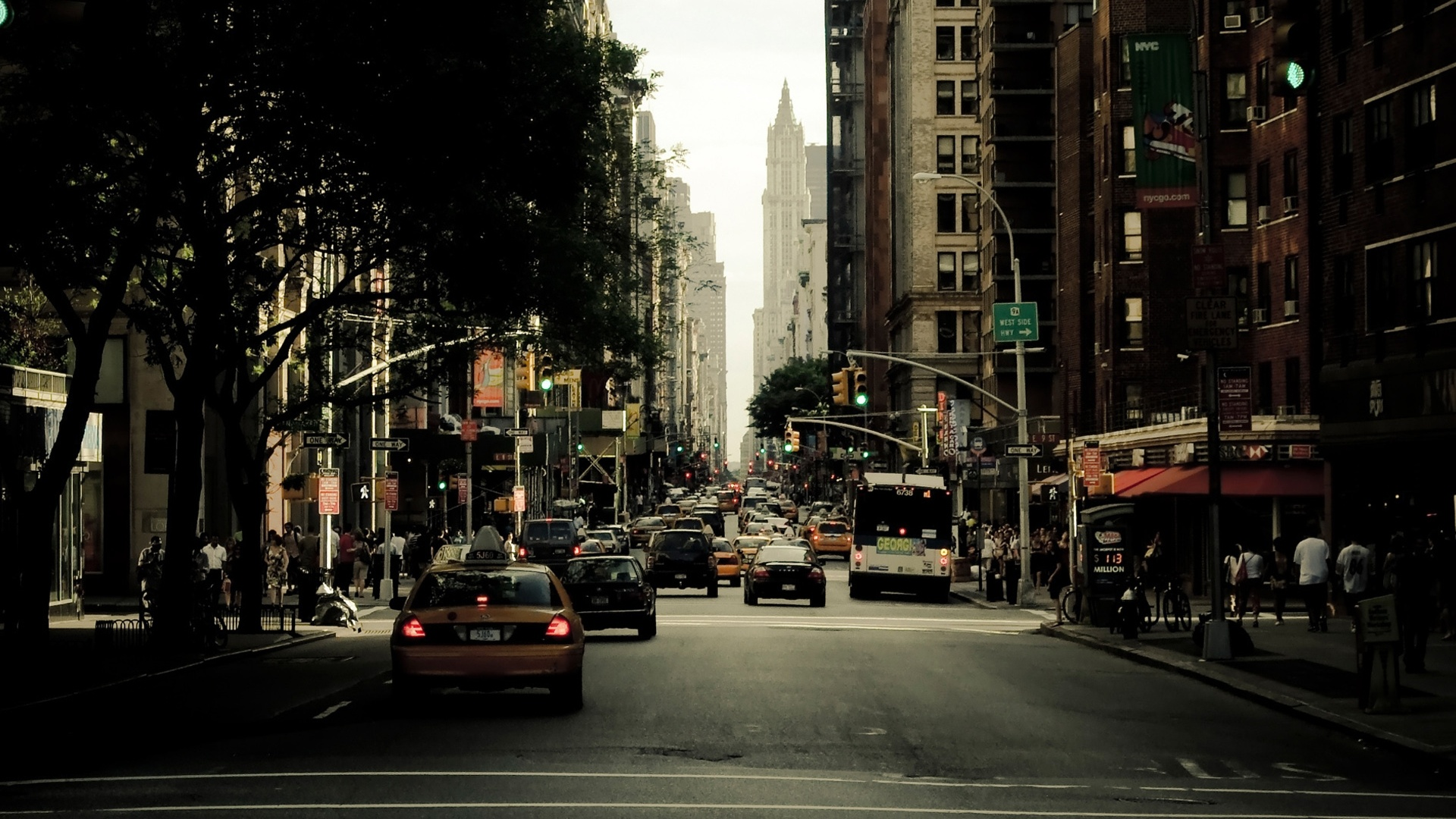 pleasant new york city street calm picture free download
