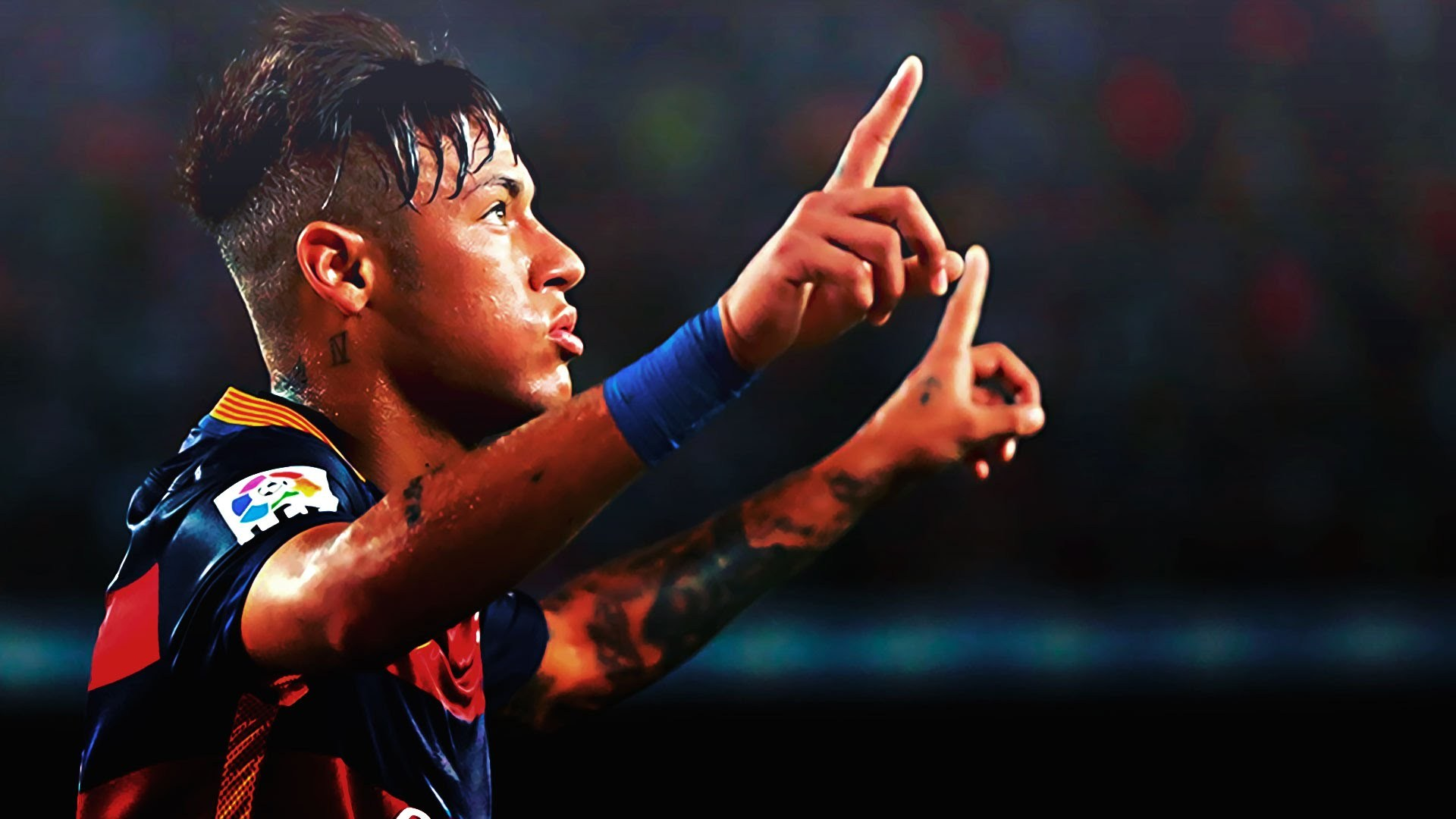 amazing neymar football player hd free raise hands mobile bakground desktop photos