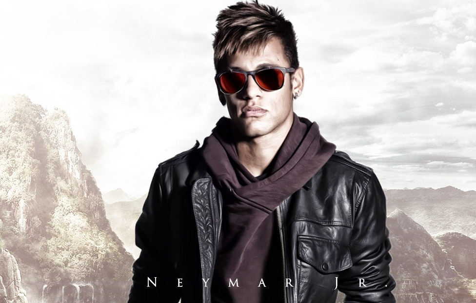 beautiful stylish look neymar football soccer player free hd mobile desktop bakground download wallpaper images