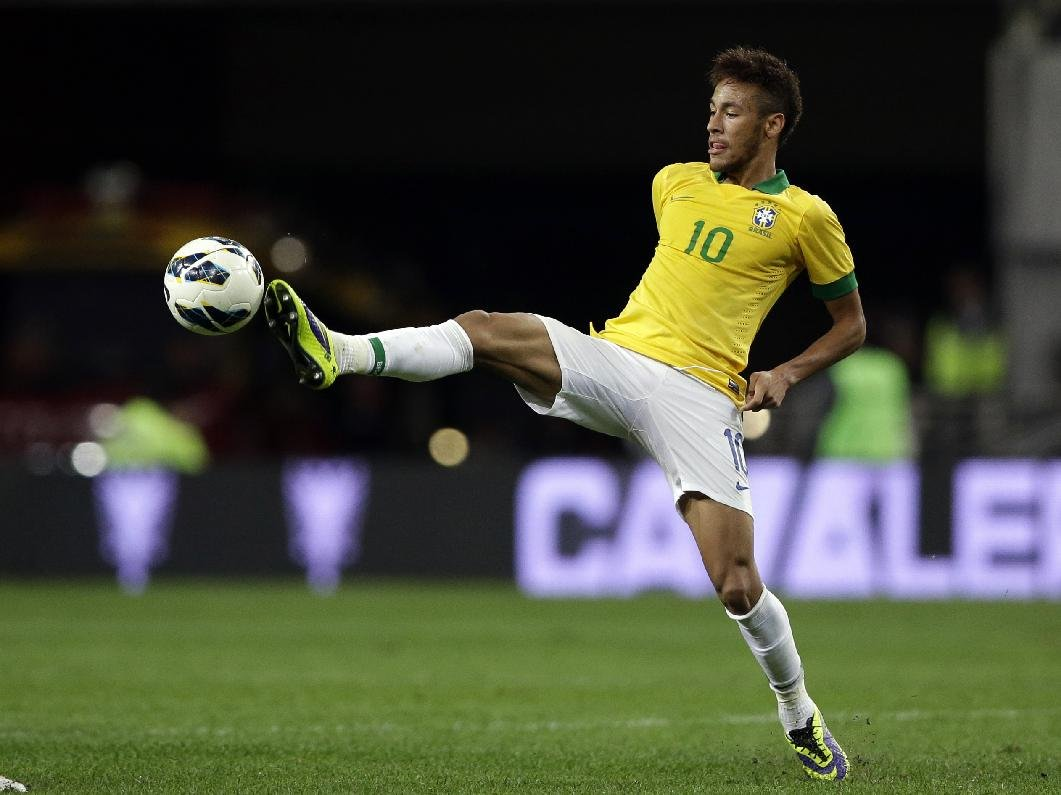 brazil neymar football soccer player hd free play with ball in air mobile bakground desktop photos