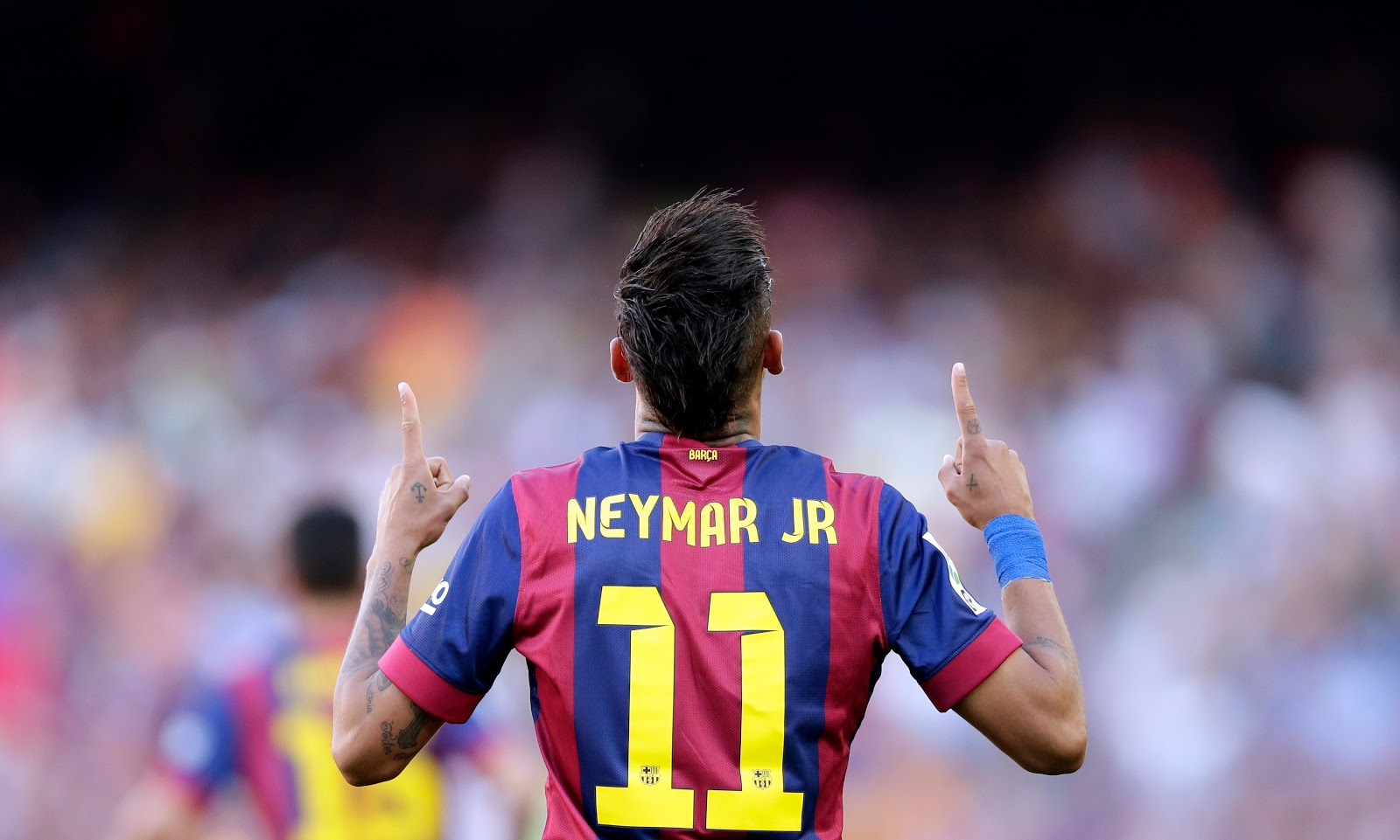 Neymar Jr Football Soccer Player Free Hd Raising Hands Up Mobile Desktop Bakground Download Pics