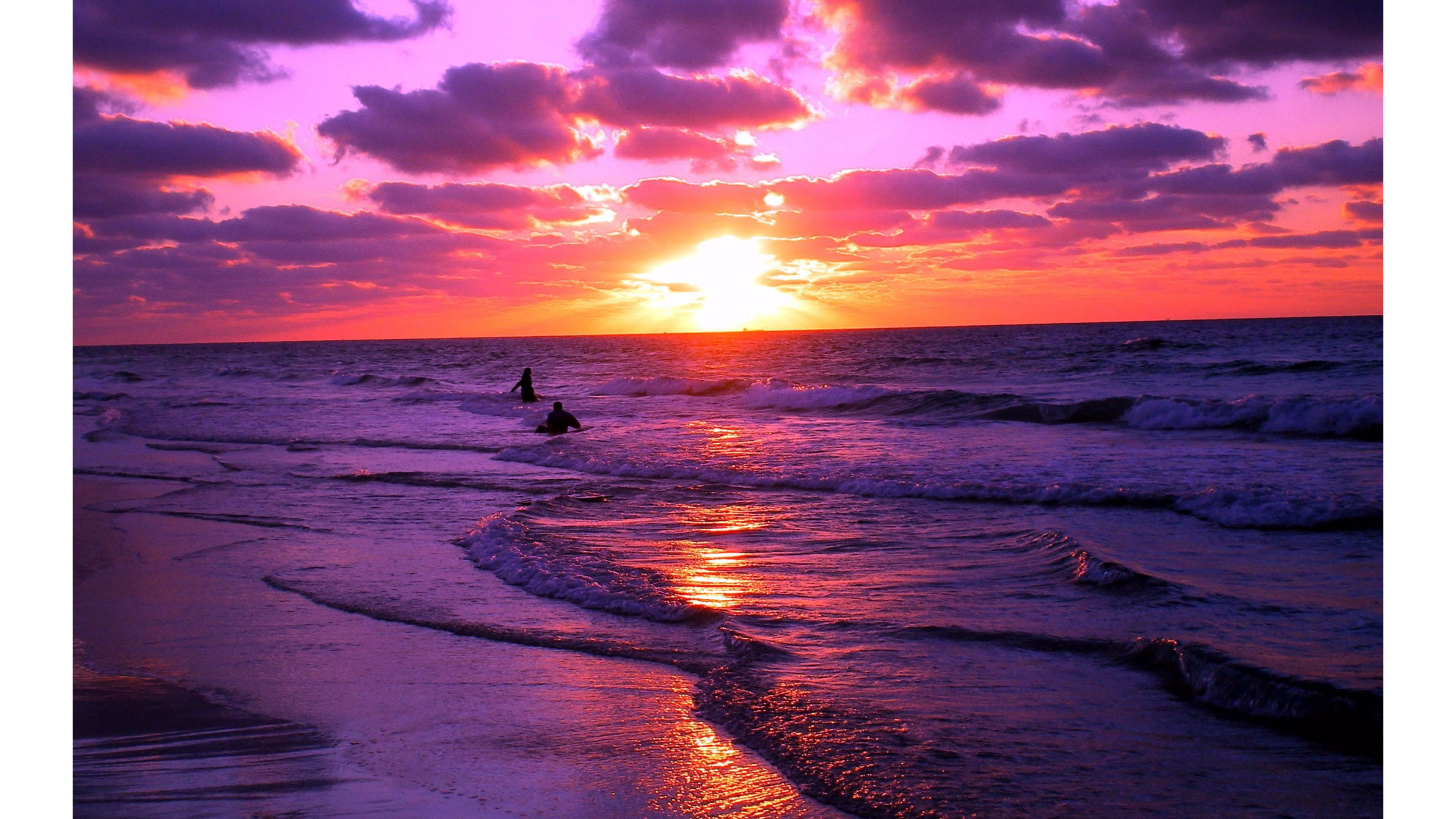 wonderful sunset on beach hd photos