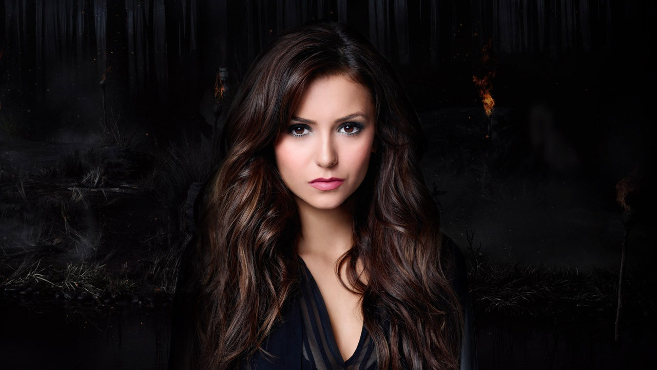 Nina Dobrev Wallpapers Stunning Black Background