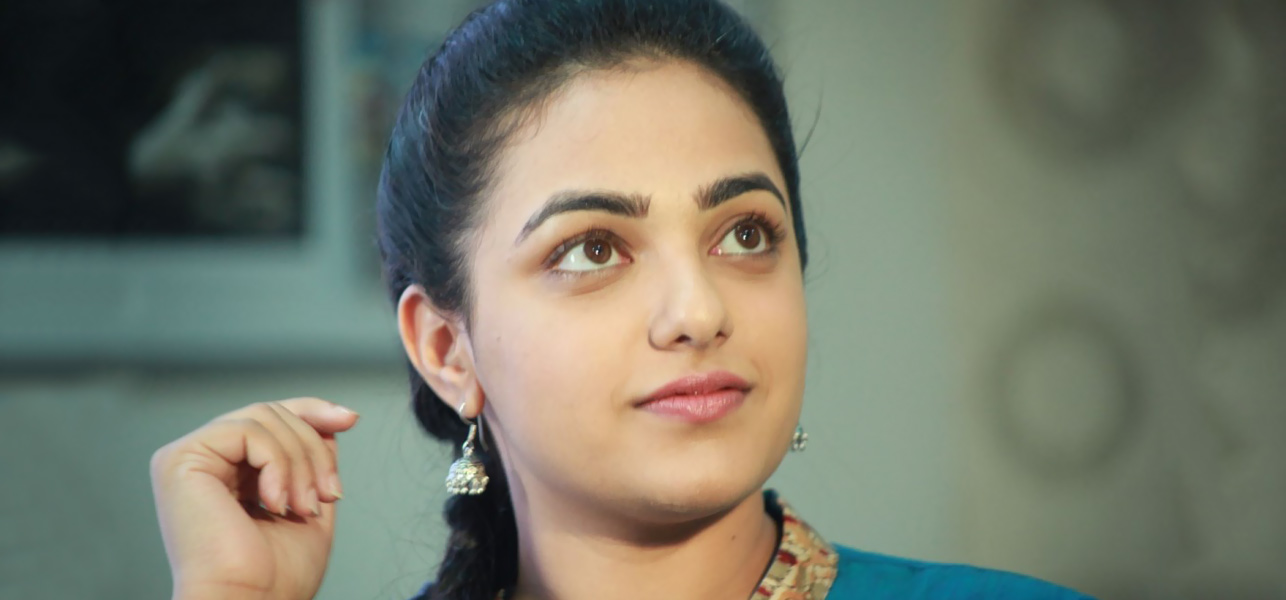beautiful nithya menon cute smiling look mobile hd background free desktop pictures