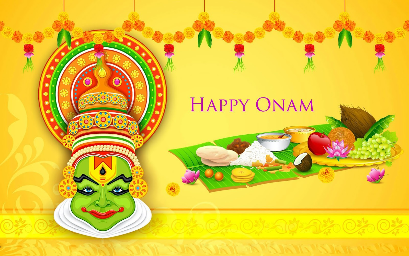 happy onam wishes gretting cards wallpaper