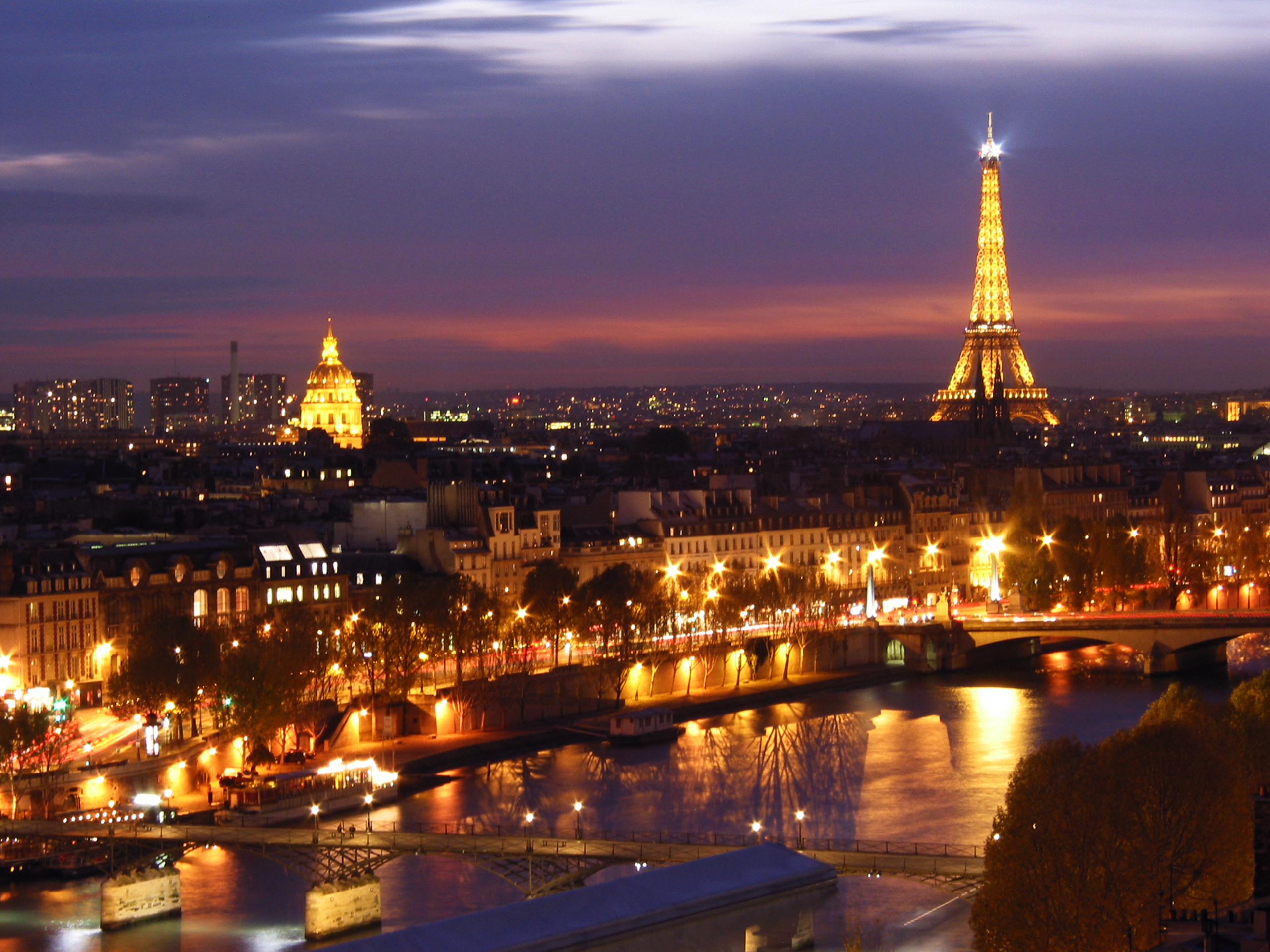 attractive lighting city eiffel tower hd paris wallpapers download
