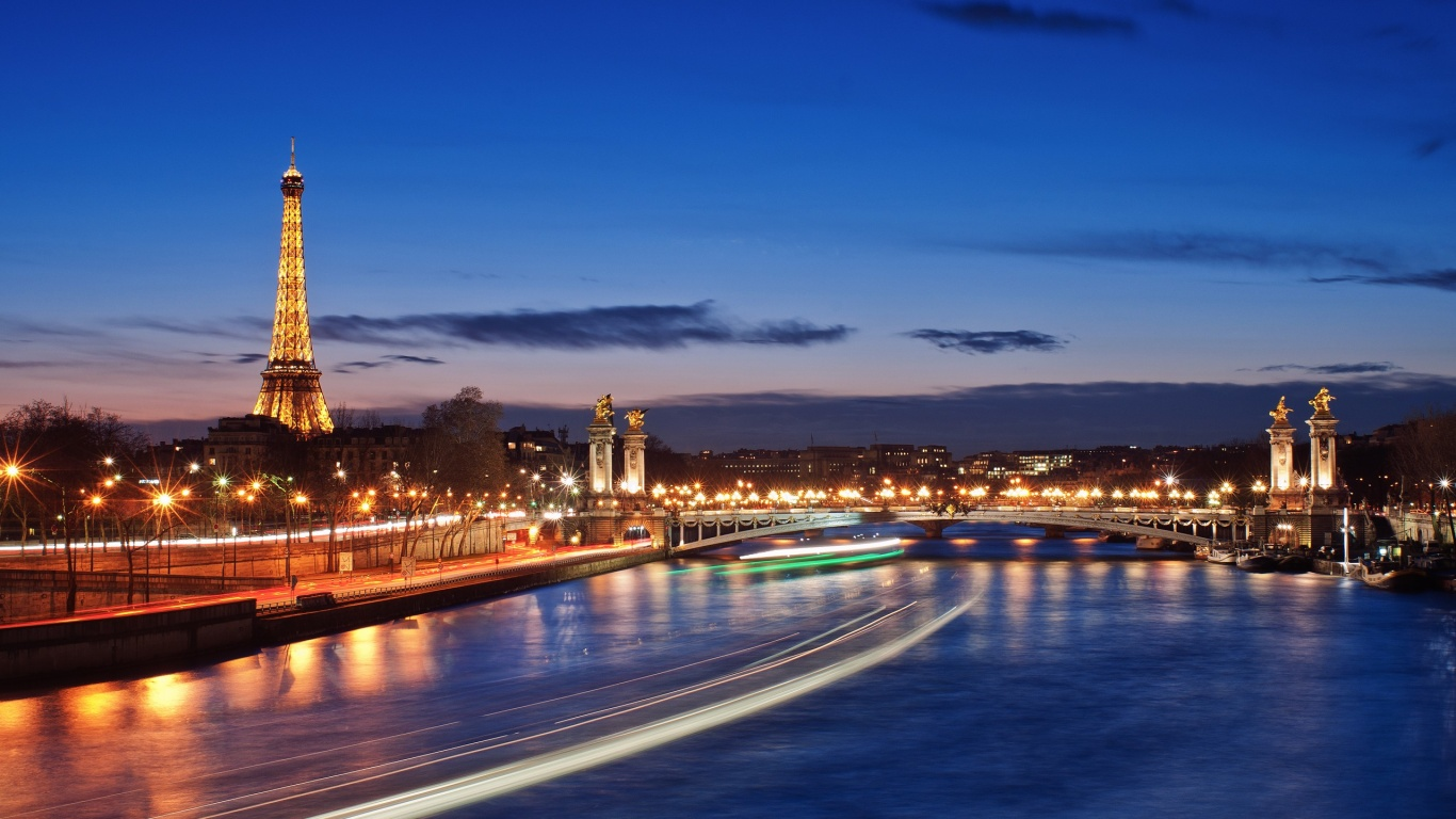 download fantastic river paris at night wallpapers for mobile