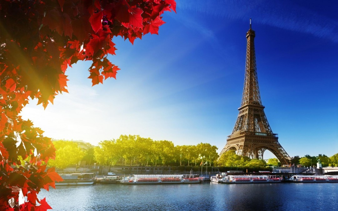 high quality free dazzling hd paris vintage river scenery