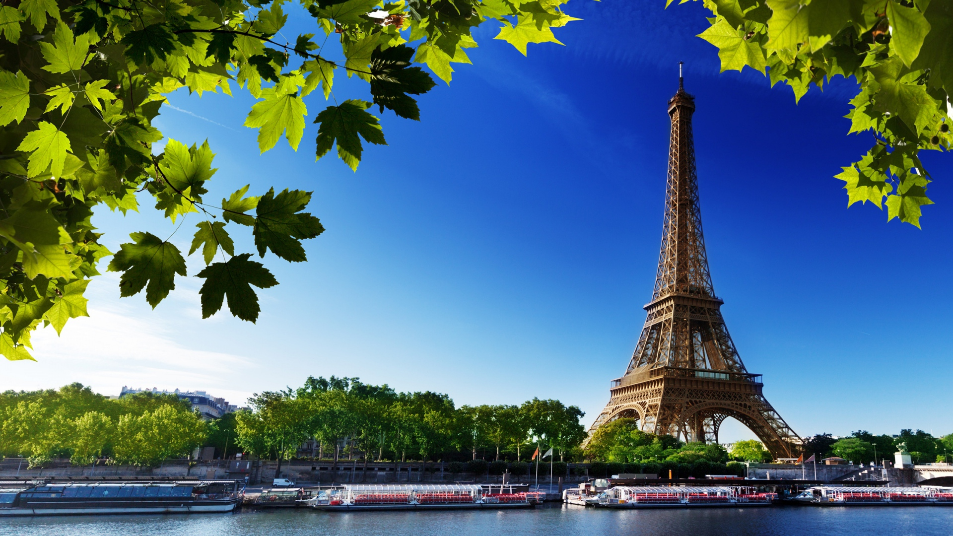 sceneries hd beautiful rivers paris eiffel tower wallpapers