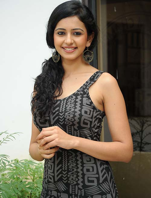 beauty rakul preet singh black dress hd mobile background free download