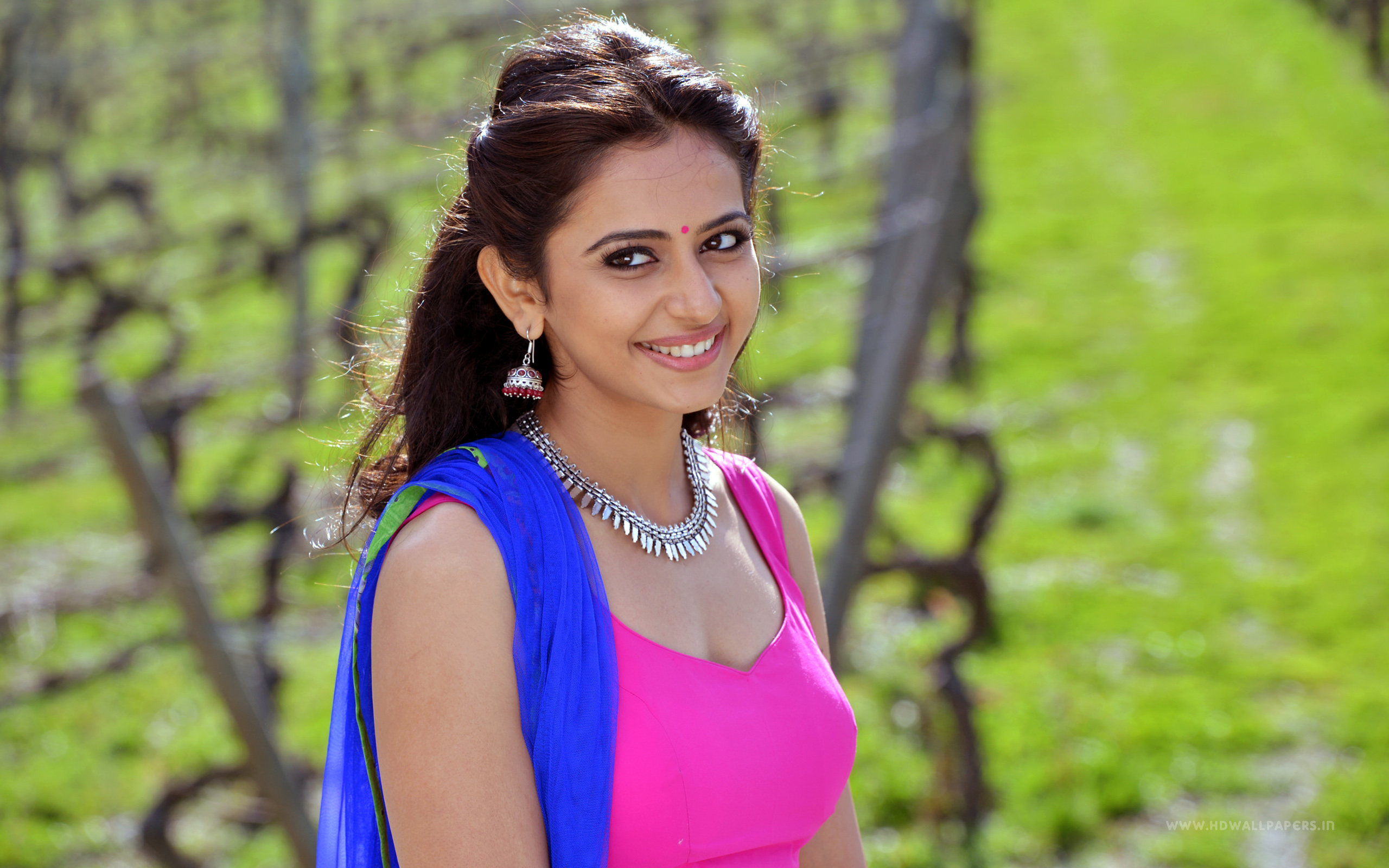 beautiful rakul preet singh smiling look desktop mobile free background hd pictures