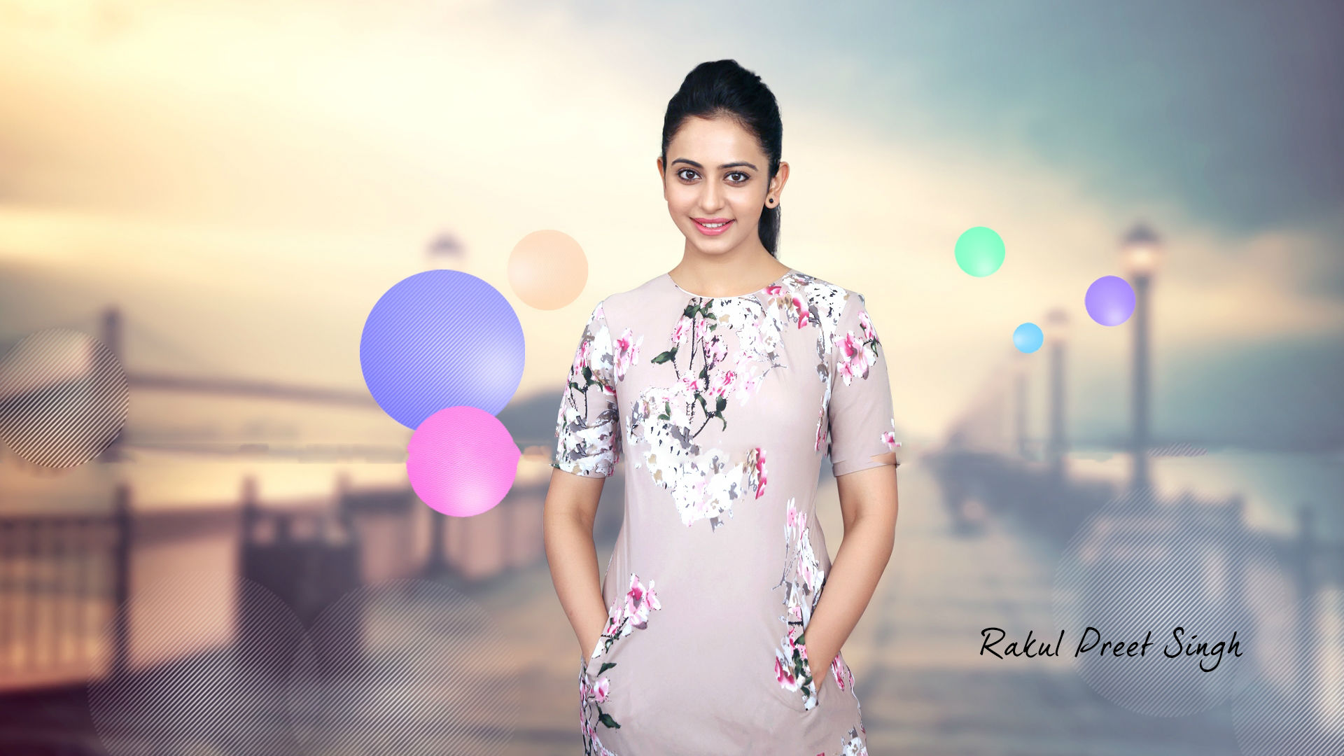 free rakul preet singh beautiful smile style mobile background