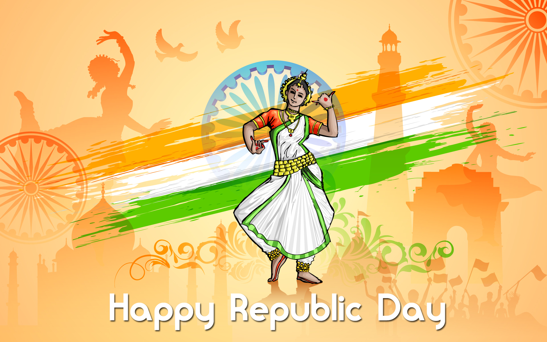 amazing happy republic day indian celebration greeting cards free hd
