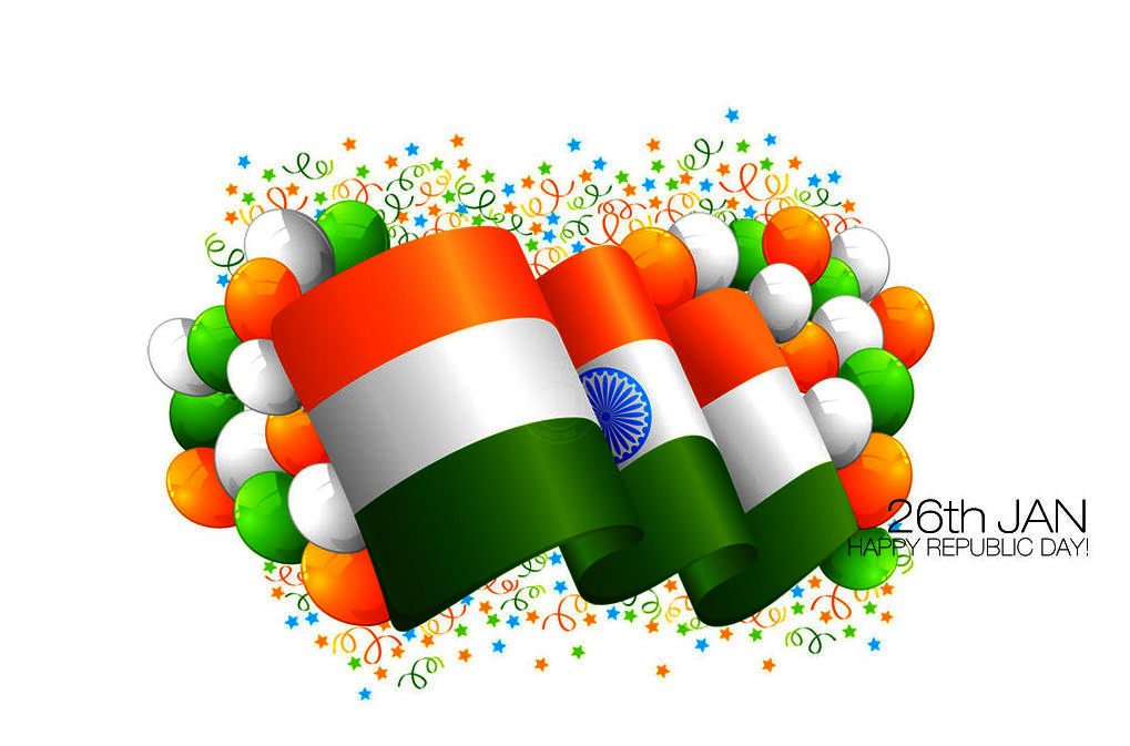 indian flag with Happy Republic day jan26 wishes cover wallpapers