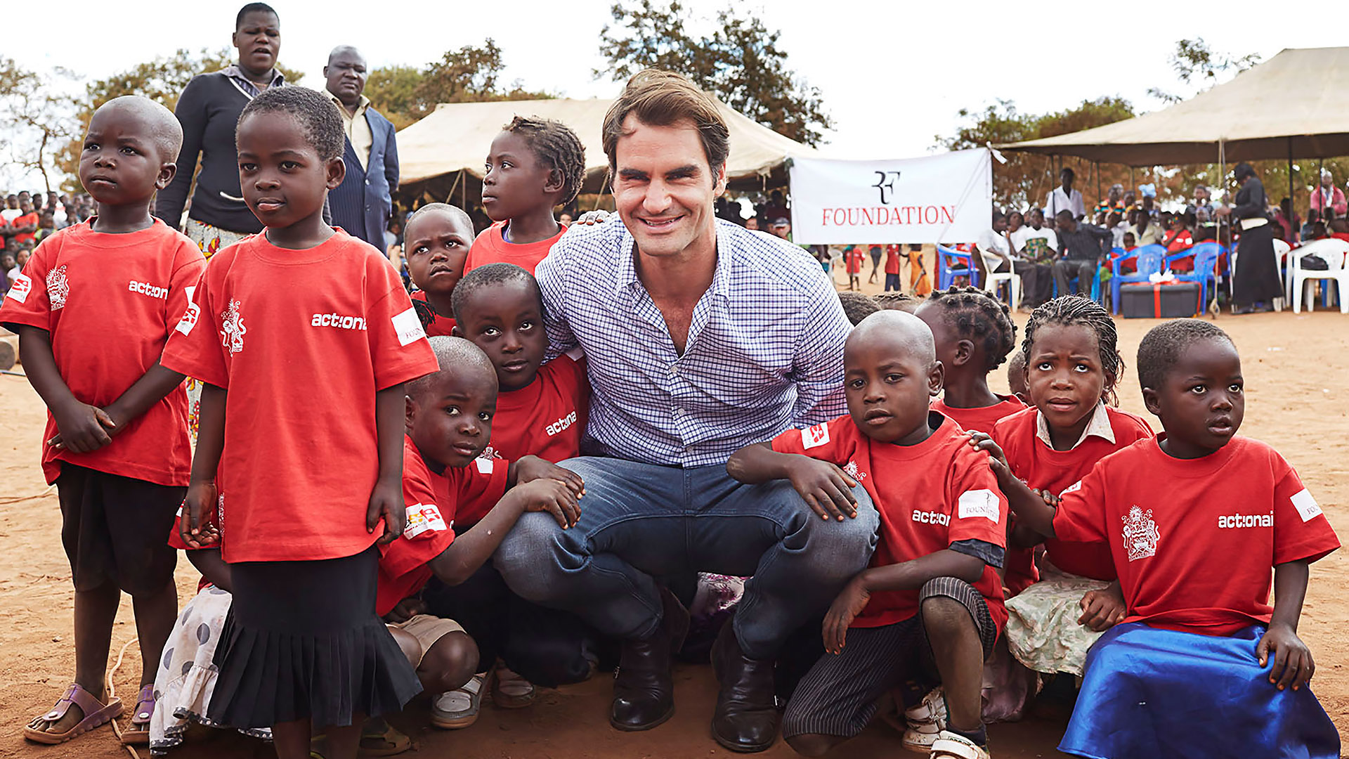 roger federer foundation with childrens cute sill hd desktop computer free background photos