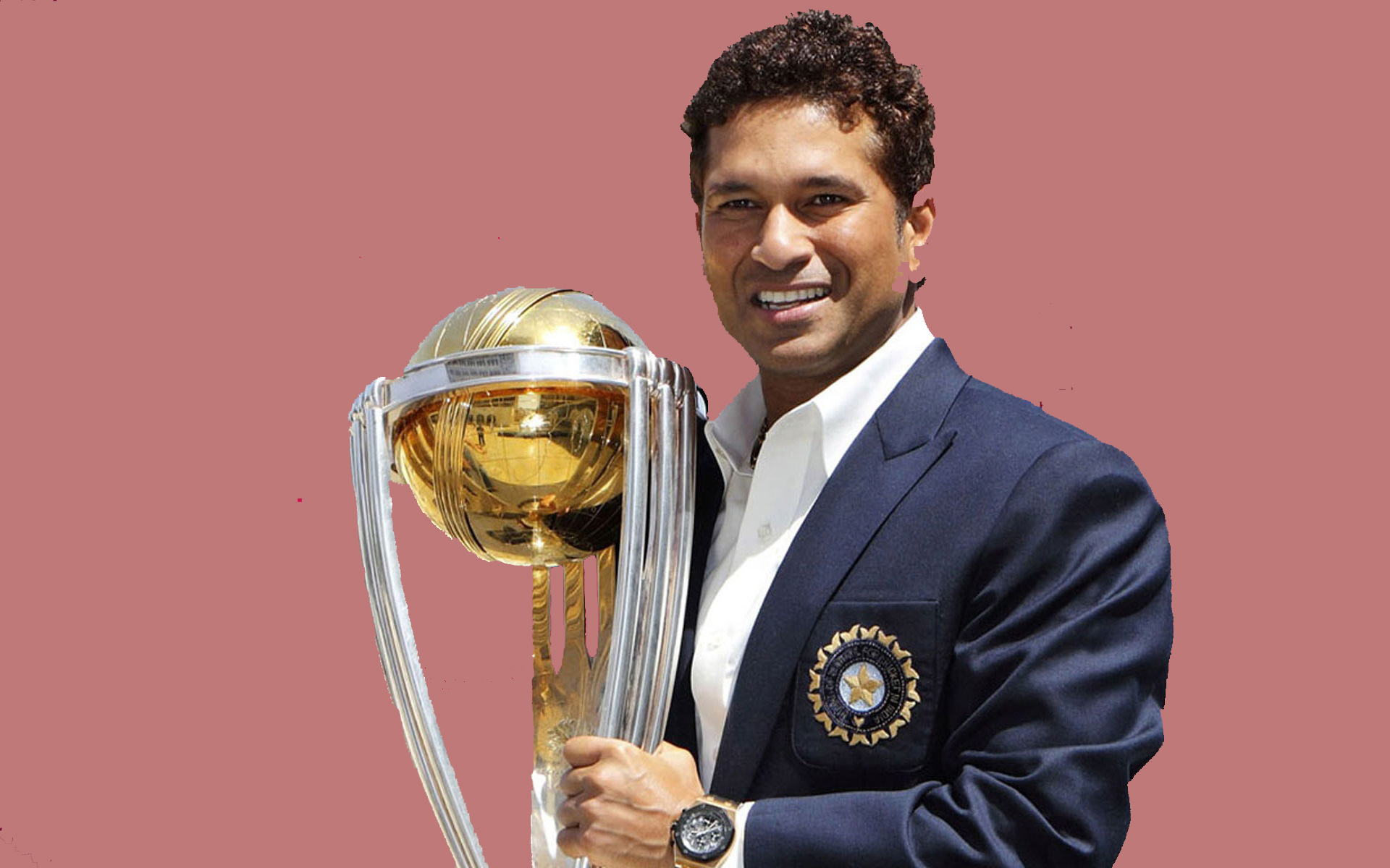 Master Sachin Tendulkar Wonderful Style Look With World Cup Pose Background Mobile Hd Free Desktop Wallpaper