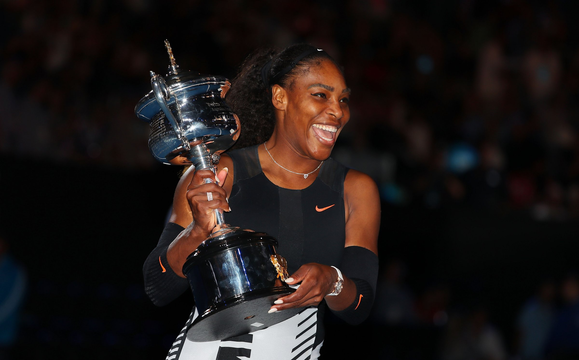 beautiful serena williams smiling with cup free hd mobile desktop background images