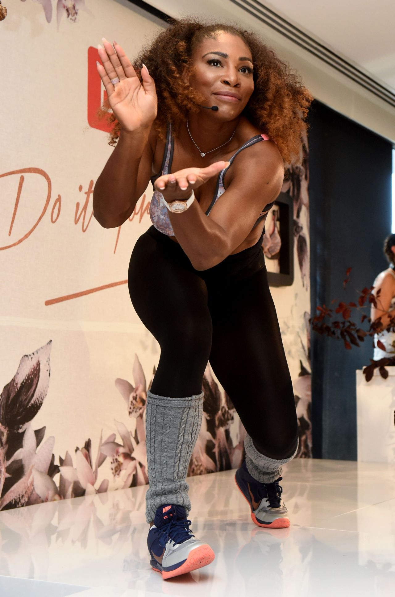 download serena williams dancing performance images free background hd computer